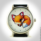 """Украшения ручной работы. Ярмарка Мастеров - ручная работа Часы наручные """"Спящая лисичка"""". Handmade."""