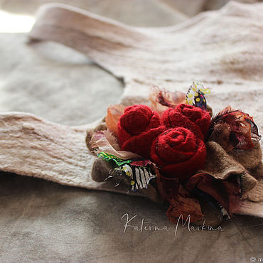 Decorations handmade. Livemaster - original item brooches: Textile brooch