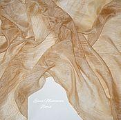 Аксессуары ручной работы. Ярмарка Мастеров - ручная работа Шёлковый шарф Золото Инков, шёлковый шарф эко окрашивание. Handmade.
