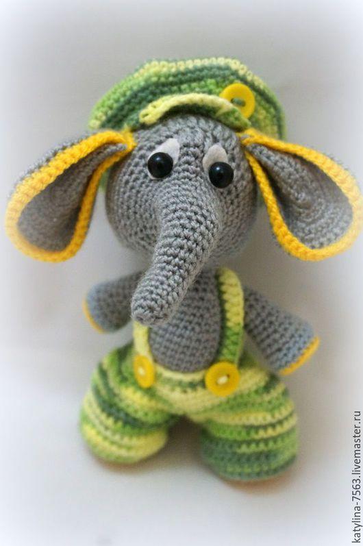 """Игрушки животные, ручной работы. Ярмарка Мастеров - ручная работа. Купить """"Слоник Дружок"""". Handmade. Комбинированный, слоны, вязаный слоник"""