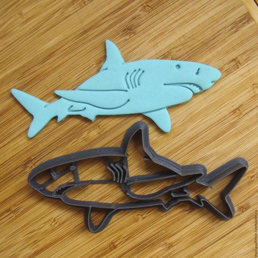 Акула.  Вырубка-штамп для пряников, печенья, мастики, поделок из соленого теста.