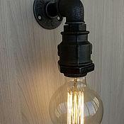 Бра ручной работы. Ярмарка Мастеров - ручная работа Бра из водопроводных труб в стиле Лофт. Handmade.