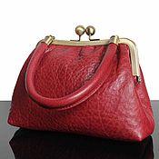 Сумки и аксессуары handmade. Livemaster - original item Leather Handbag, cranberry, handbag outlet, bag leather. Handmade.