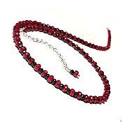 Украшения handmade. Livemaster - original item Amulet - choker, beads: spinel, natural ruby