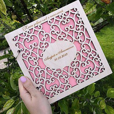 Свадебный салон ручной работы. Ярмарка Мастеров - ручная работа Книга пожеланий на свадьбу. Handmade.