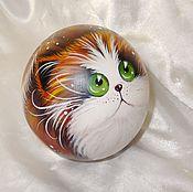 Сувениры и подарки handmade. Livemaster - original item Cat ginger A La cats Kim Haskins Music ball tumbler. Handmade.