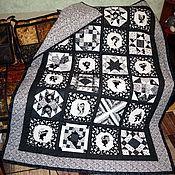 """Для дома и интерьера ручной работы. Ярмарка Мастеров - ручная работа Лоскутное одеяло """"BLACK AND WHITE"""". Handmade."""