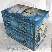 Для дома и интерьера handmade. Livemaster - original item Mini chest of drawers a beautiful dream. Handmade.