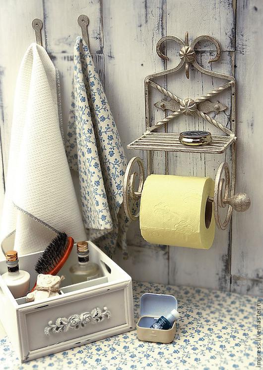 Ванная комната ручной работы. Ярмарка Мастеров - ручная работа. Купить держатель для туалетной бумаги. Handmade. Держатель для бумаги, дача