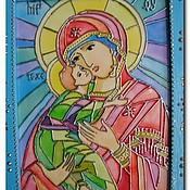 """Картины и панно ручной работы. Ярмарка Мастеров - ручная работа витраж """"Богородица"""". Handmade."""