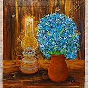 Картины и панно handmade. Livemaster - original item By the light of a lamp to talk to you all night. Handmade.