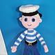 Моряк. вязаная игрушка