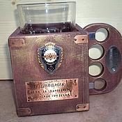 Стаканы ручной работы. Ярмарка Мастеров - ручная работа Подстаканник подводника. Handmade.