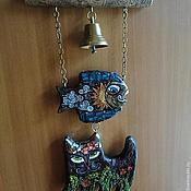 """Картины и панно ручной работы. Ярмарка Мастеров - ручная работа Подвеска """"Чудо-рыбо-кот"""". Handmade."""