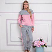 Одежда ручной работы. Ярмарка Мастеров - ручная работа Комплект Серо-розовый. Handmade.
