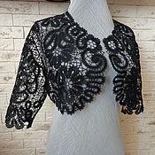 """Одежда ручной работы. Ярмарка Мастеров - ручная работа Болеро""""Фигаро"""" чёрное. Handmade."""