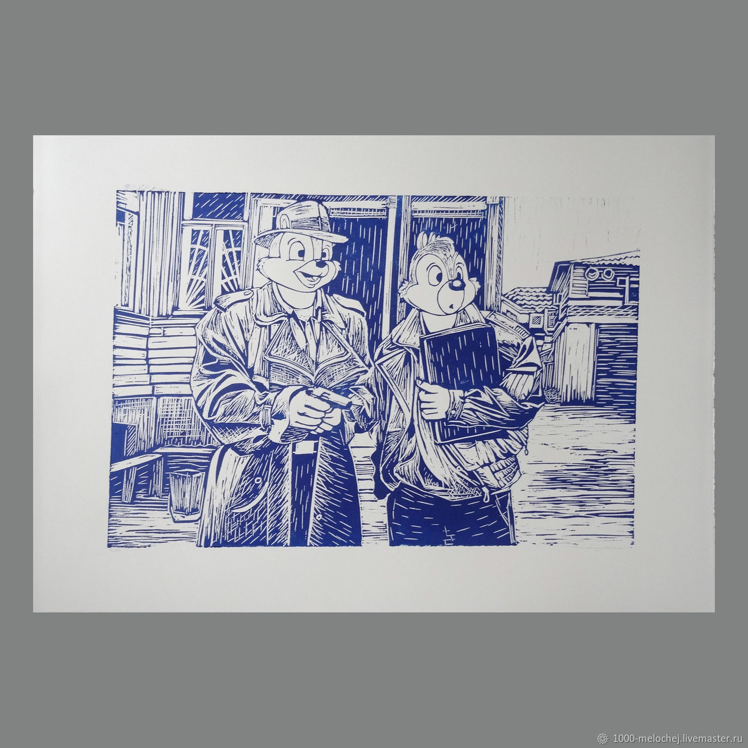 Glory ptrk ' Chip and Dale. Blind man's buff ' limited edition engraving, Pictures, Moscow,  Фото №1