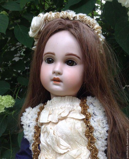 Винтажные куклы и игрушки. Ярмарка Мастеров - ручная работа. Купить Очаровательная Жюмо с нереальными глазами. Handmade. Комбинированный, фарфор, бисер