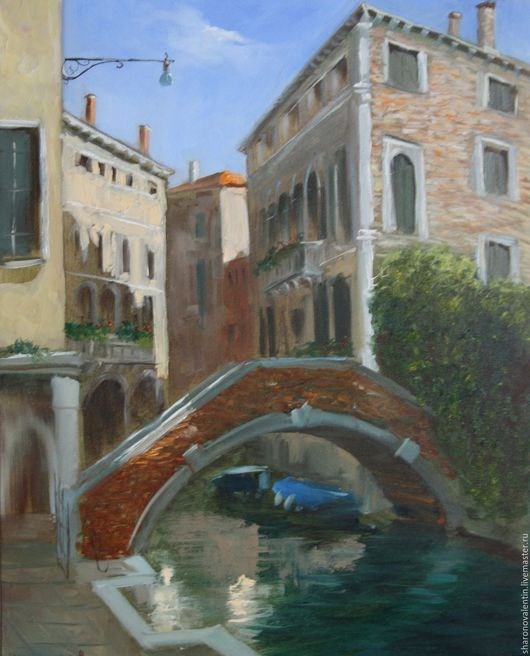 Город ручной работы. Ярмарка Мастеров - ручная работа. Купить Венецианский мостик. Handmade. Синий, коричневый, мост в венеции