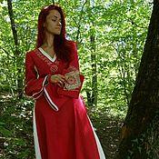 Одежда ручной работы. Ярмарка Мастеров - ручная работа Платье из льна со славянской вышивкой Чара. Handmade.