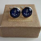 Украшения handmade. Livemaster - original item Cufflinks silver Anchor. Handmade.