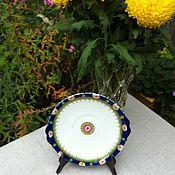Винтаж handmade. Livemaster - original item Vintage porcelain dish of fruit, Germany. Handmade.