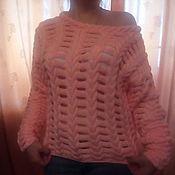 Одежда ручной работы. Ярмарка Мастеров - ручная работа Вязанный свитер спицами. Handmade.