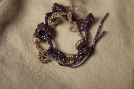 """Браслеты ручной работы. Ярмарка Мастеров - ручная работа. Купить браслеты вязаные """"покажи-ка ,что у тебя в шкатулке...!"""". Handmade."""
