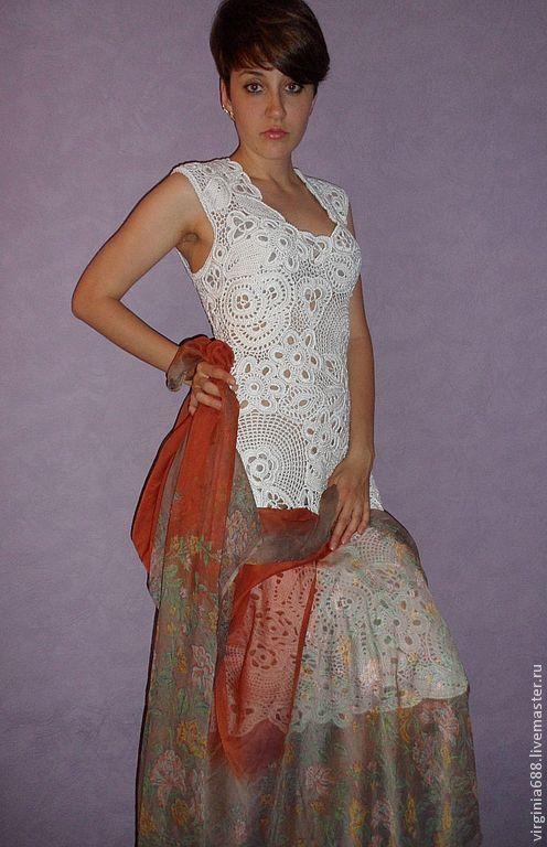 Платья ручной работы. Ярмарка Мастеров - ручная работа. Купить платье Virginia. Handmade. Белый, ирландское кружево, для женщин
