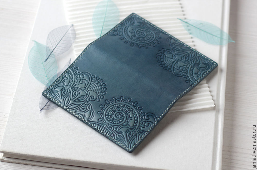 Wallet cardholders made of leather with embossed teal blue shop wallets business card holders handmade wallet cardholders made of leather with embossed colourmoves
