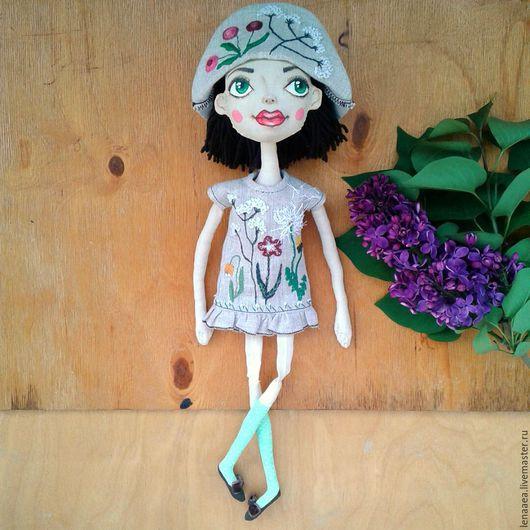 Коллекционные куклы ручной работы. Ярмарка Мастеров - ручная работа. Купить ФЛОРЕНЦ Текстильная кукла. Handmade. Ручная вышивка, нитки