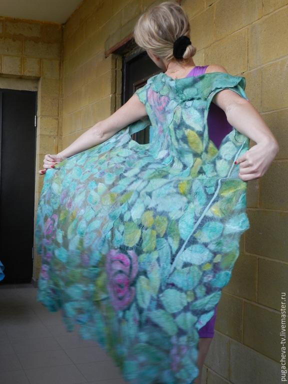 Валяние платья на шелке