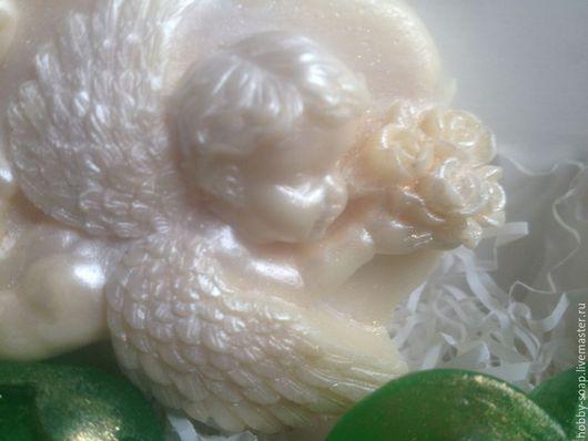 """Мыло ручной работы. Ярмарка Мастеров - ручная работа. Купить """" Ангел"""". . Мыло ручной работы. Handmade. Ярко-зелёный"""