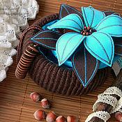 """Для дома и интерьера ручной работы. Ярмарка Мастеров - ручная работа Шкатулка """"Бирюза+Шоколад"""". Handmade."""