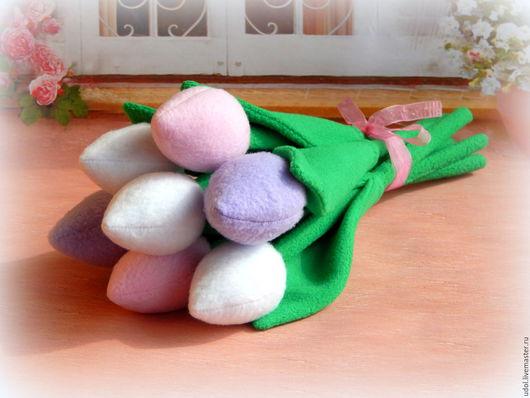 Цветы ручной работы. Ярмарка Мастеров - ручная работа. Купить Тюльпаны. Handmade. Комбинированный, весна 2016, синтепух