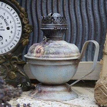 Для дома и интерьера ручной работы. Ярмарка Мастеров - ручная работа Керосиновая Лампа Vintage Flowers. Handmade.