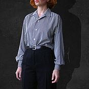 Одежда ручной работы. Ярмарка Мастеров - ручная работа Блуза мужского покроя. Handmade.