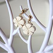 Украшения handmade. Livemaster - original item Earrings white tree