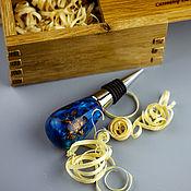 handmade. Livemaster - original item Gift wine stopper in an oak box. Handmade.