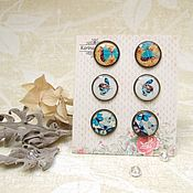 Украшения handmade. Livemaster - original item Vintage Stud Earrings Studs Butterfly Birds Boho Jewelry. Handmade.