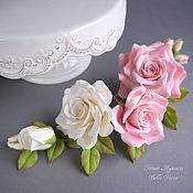 Украшения ручной работы. Ярмарка Мастеров - ручная работа Комплект шпилек с розами из полимерной глины. Handmade.