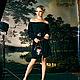 """Платья ручной работы. Шелковое платье-блузон черное """"Итальянская ночь"""". JULINA. Ярмарка Мастеров. Мини платье, Платье из шелка"""