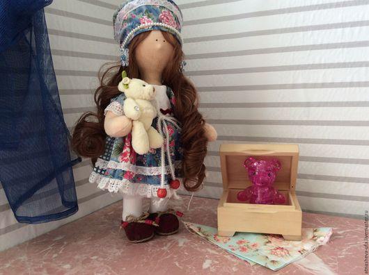 Коллекционные куклы ручной работы. Ярмарка Мастеров - ручная работа. Купить Любава. Handmade. Голубой, ботиночки бархатные, бархат