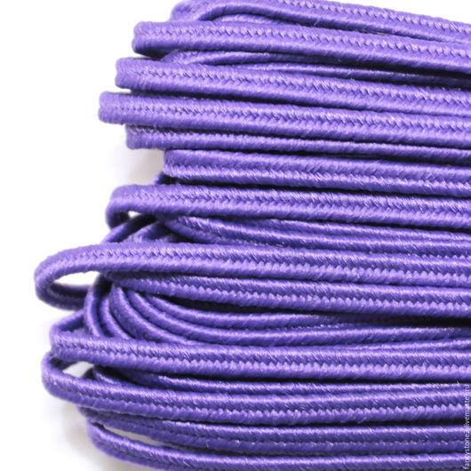 Для украшений ручной работы. Ярмарка Мастеров - ручная работа. Купить Сутаж белорусский 2,5мм фиолетовый. Handmade. Сутаж