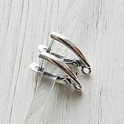 Материалы для творчества handmade. Livemaster - original item Earrings silver plated with lock (art. 2502). Handmade.