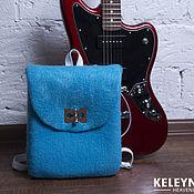 Сумки и аксессуары handmade. Livemaster - original item Felted backpack breeze. Handmade.
