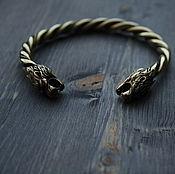 Украшения handmade. Livemaster - original item Bronze bracelet lions. Handmade.
