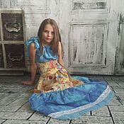 """Платья ручной работы. Ярмарка Мастеров - ручная работа Авторское платье """"Лето"""" Хлопок Батик Кружево. Handmade."""