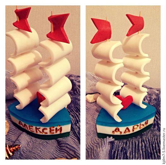 """Мыло ручной работы. Ярмарка Мастеров - ручная работа. Купить Мыло """"Корабль"""". Handmade. Комбинированный, мыло в тюмени, пляж"""