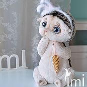 Куклы и игрушки ручной работы. Ярмарка Мастеров - ручная работа ёжичек в шапочке зайки. Handmade.